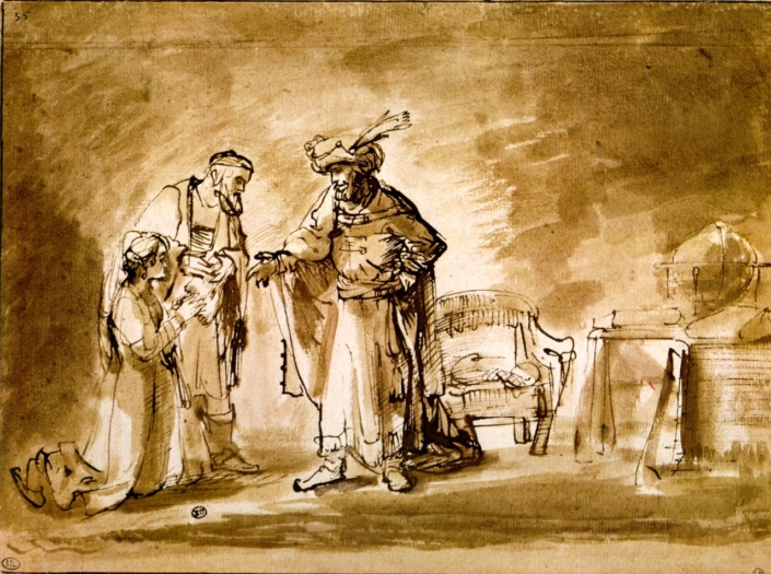 Rembrandt. Esther Presented to Ahasuerus