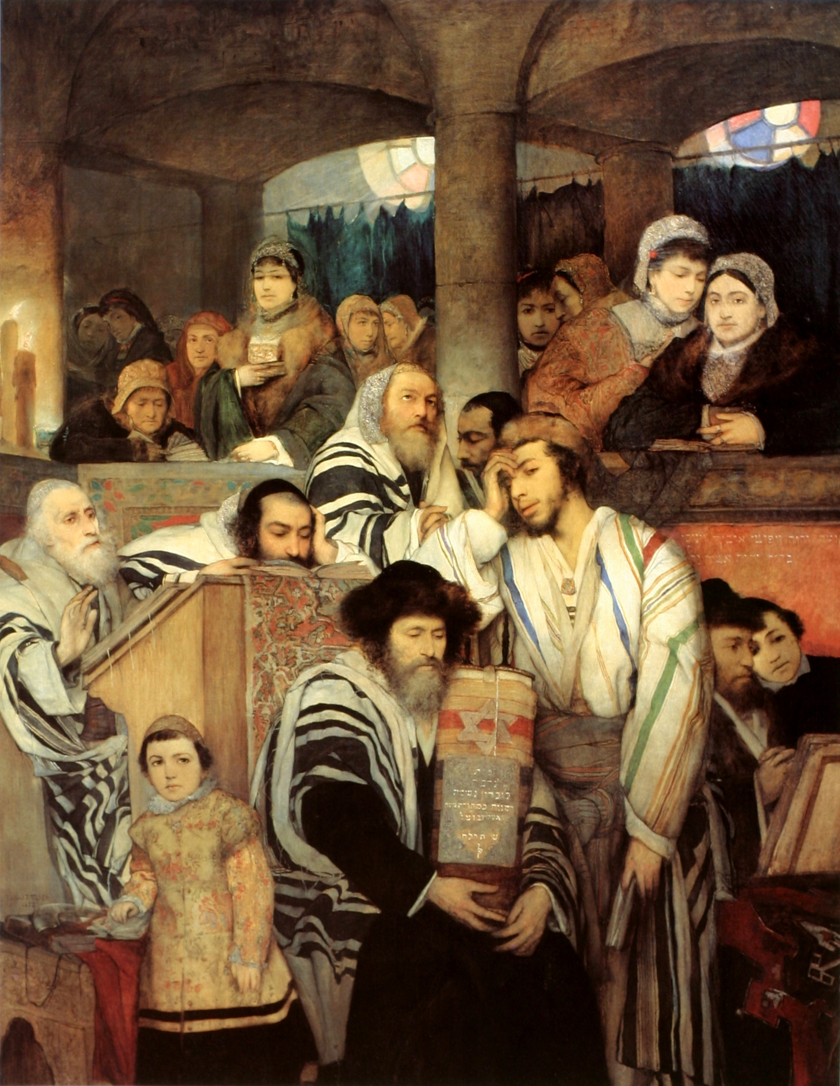 Gottlieb-Jews_Praying_in_the_Synagogue_o