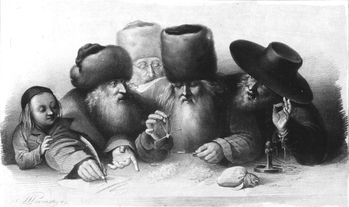 Jewish merchants in XIX century Warsaw