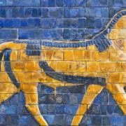 Golden Calf, ancient mosaic, Assyria. Photo: ggenova.